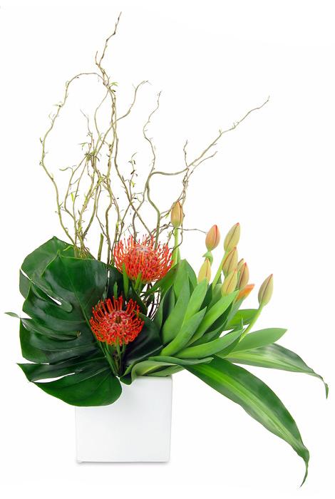 corporate florist arrangement