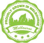 grown in melbourne badge